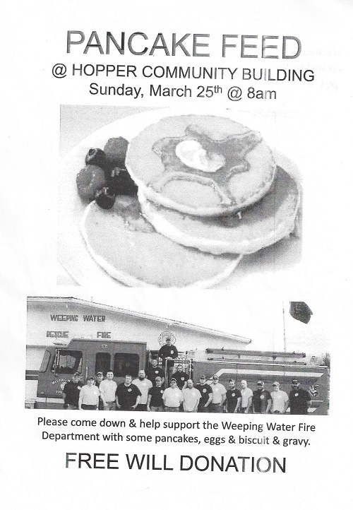 March 2018 Pancake Feed
