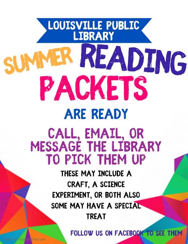 LV library summer reading packets
